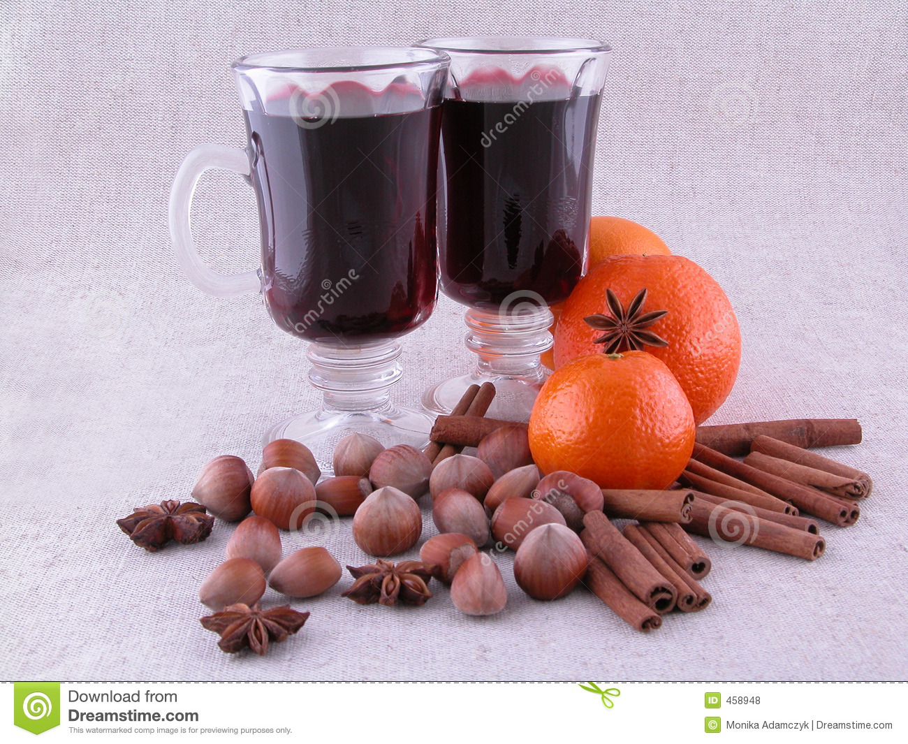 Download Hot wine stock photo. Image of cinnamon, beverages, fruits - 458948