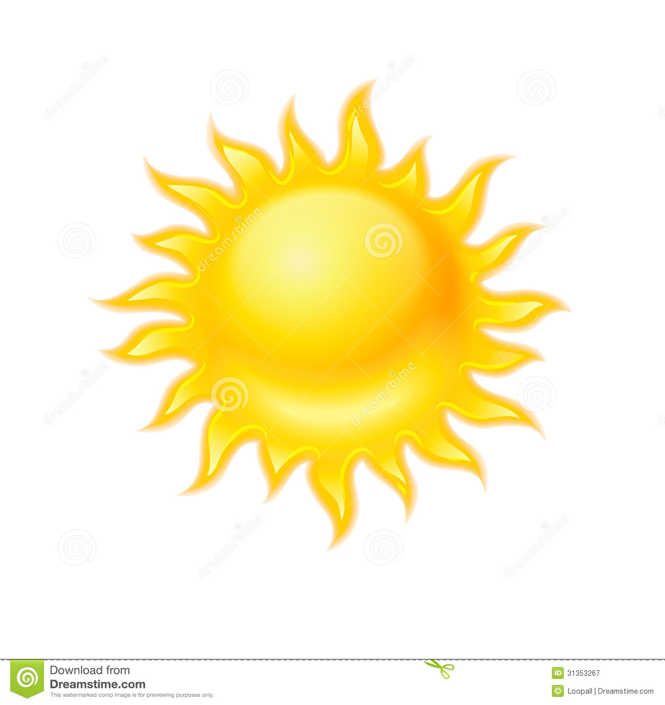 Hot yellow sun icon isolated royalty free stock photography image