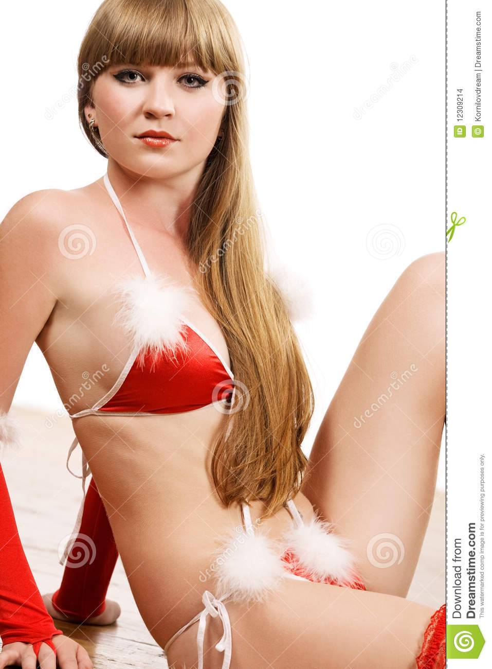 fbbc0038768 Hot Young Girl In Red Christmas Lingerie Stock Photo - Image of ...