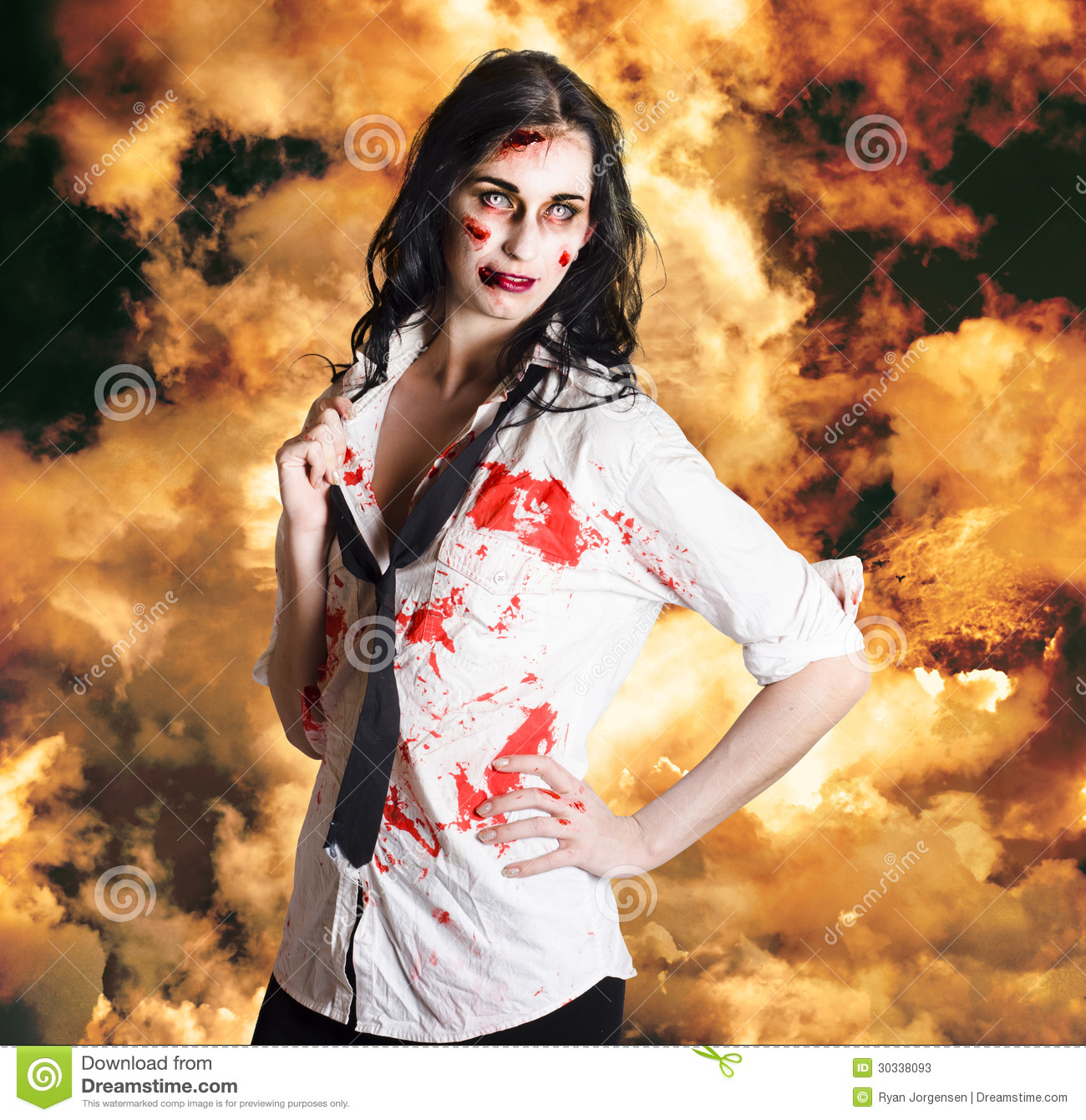 Hot zombie business woman on fire background stock image image of hot zombie business woman on fire background voltagebd Image collections