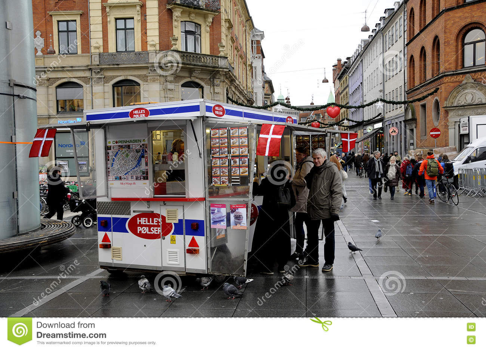 f2dec9e3 Copenhagen / Denmark_ 18th. November 2016 _ Danish famous hot dog van  Helle`s polser norreport trian station. Photo. Francis Joseph  Dean/Deanpictures.