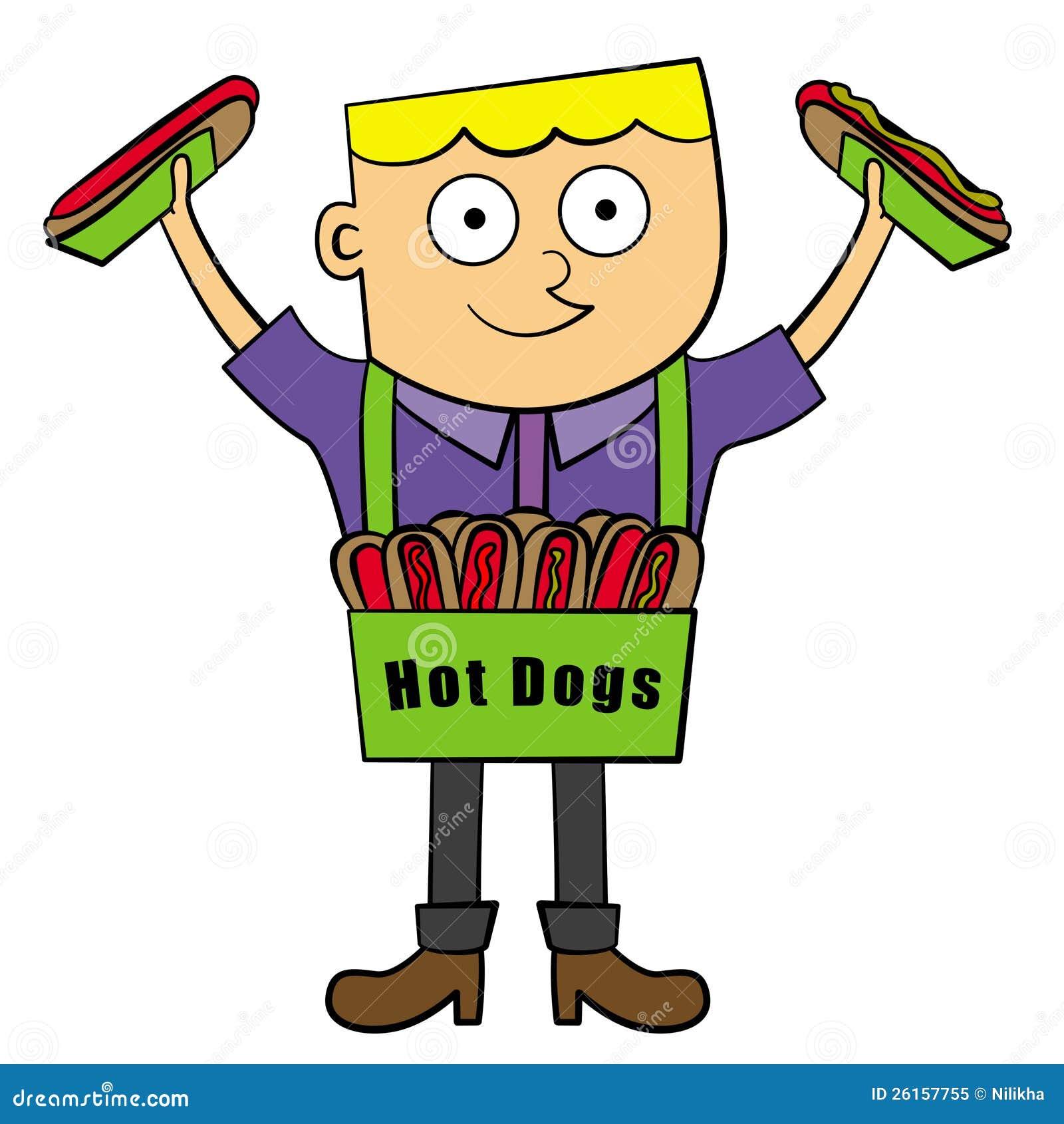 Free Hot Dog Cart Clipart