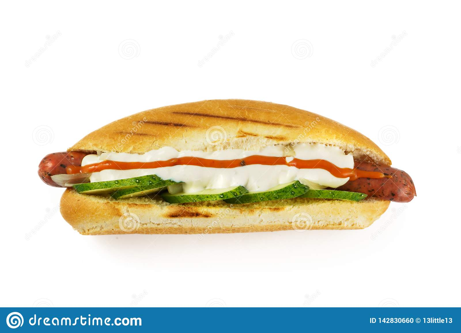 Hotdog widok z góry