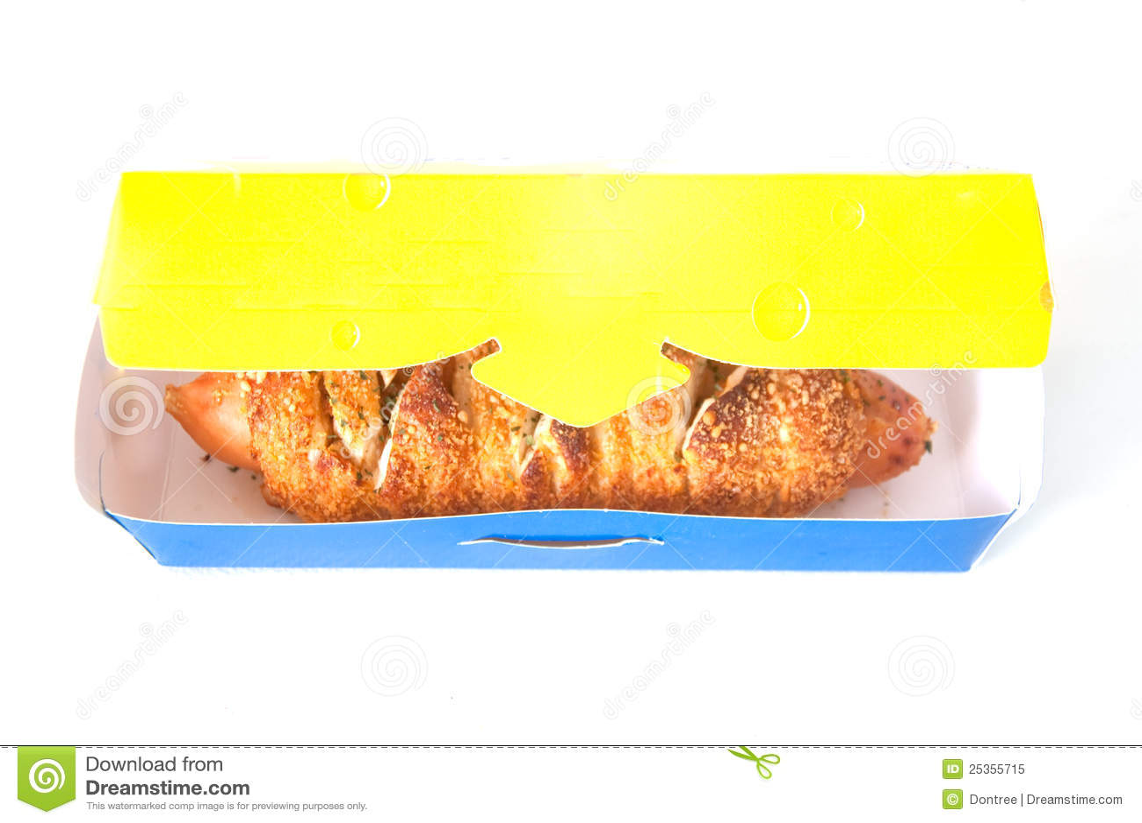 Hotdogs eingewickelt im Produkt
