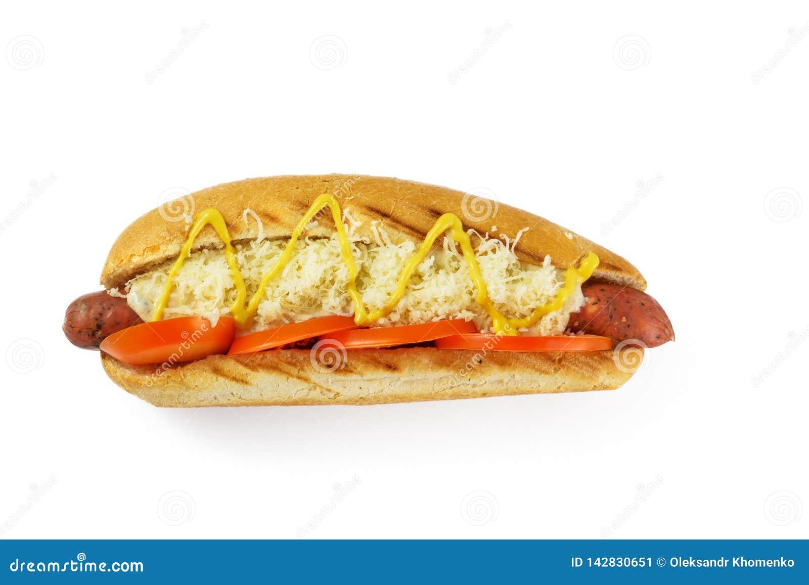 Hotdogsikt från över
