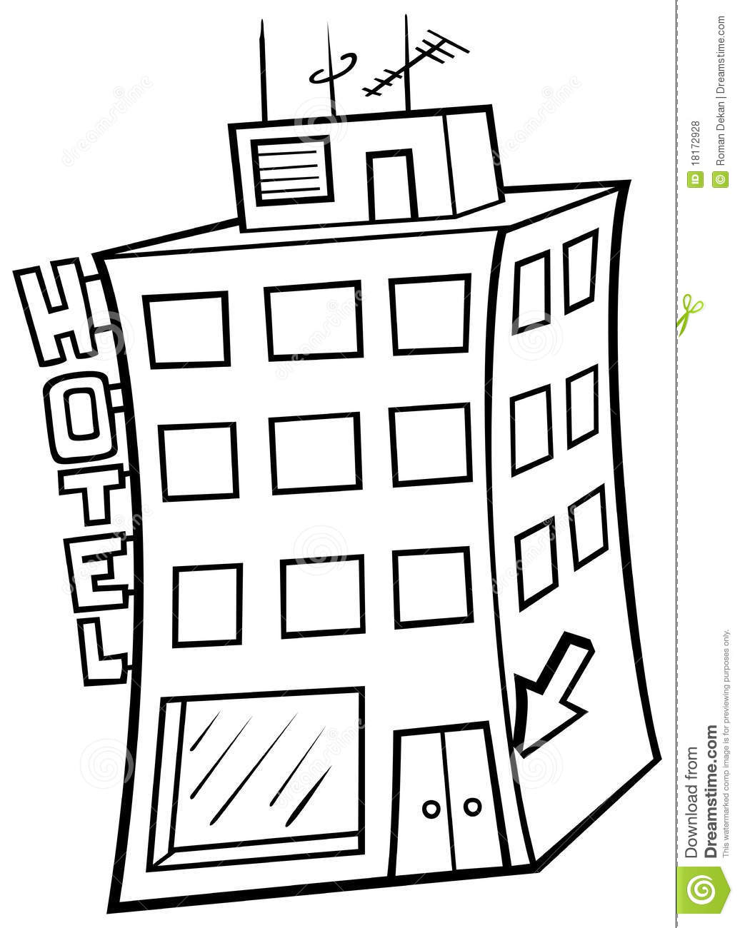 hotel stock vector image of tourism architecture