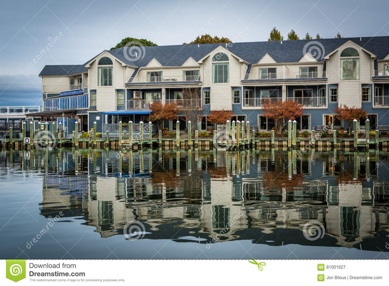 Hotel along the Miles River, in St. Michaels, Maryland.