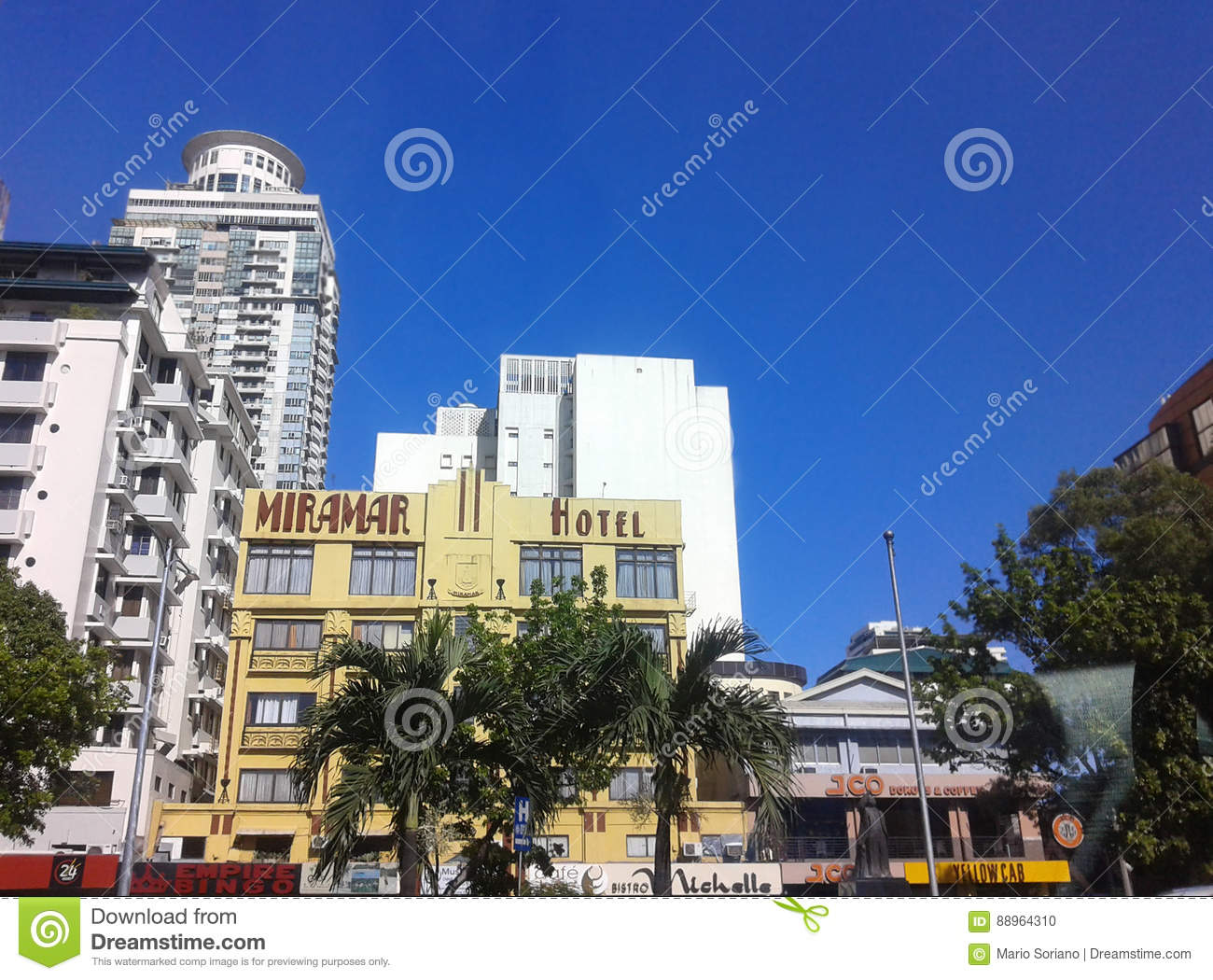 Hotel Along Roxas Blvd Editorial Image Image Of Mall - Hotels near us embassy manila