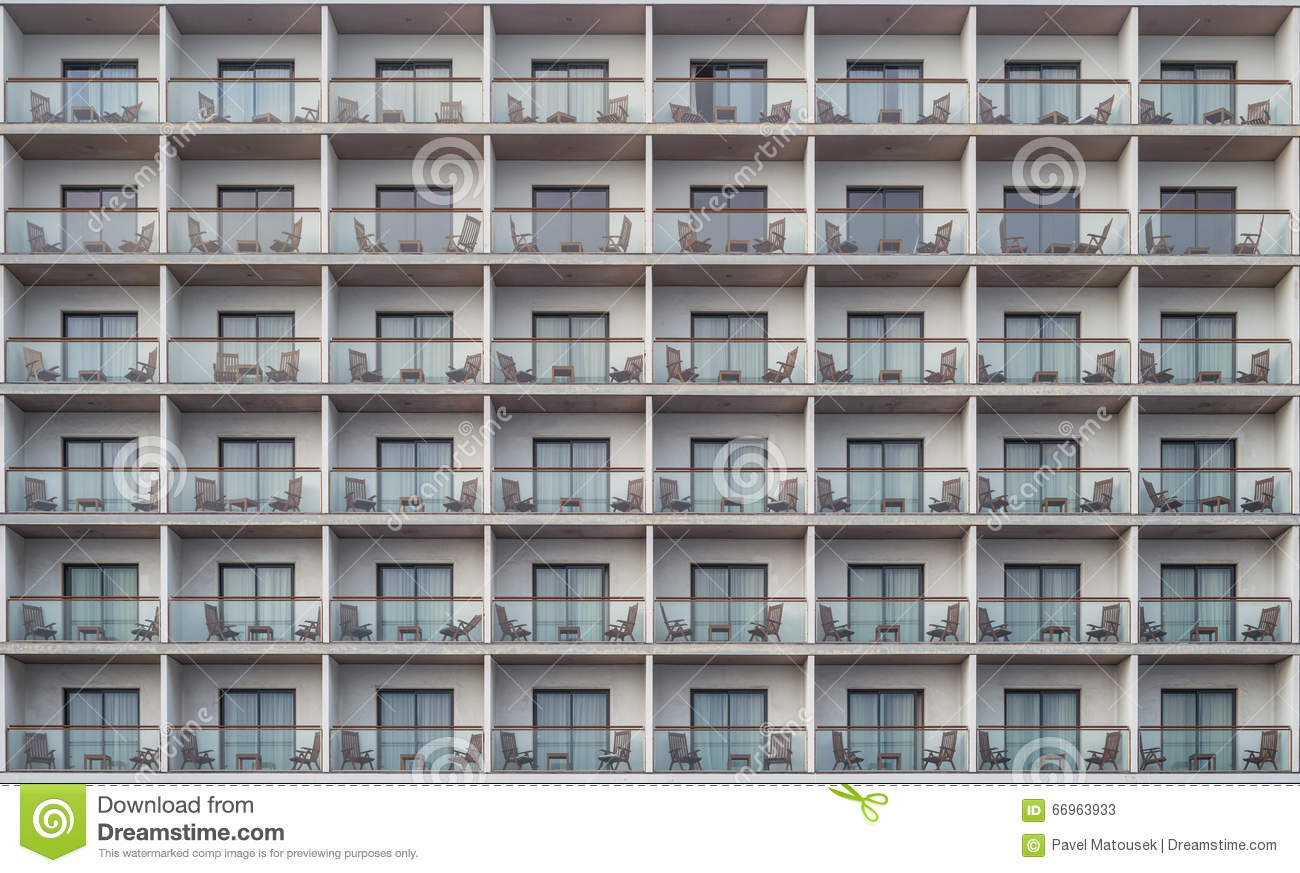 Hotel Apartment Balcony Texture Pattern Stock Photo Image