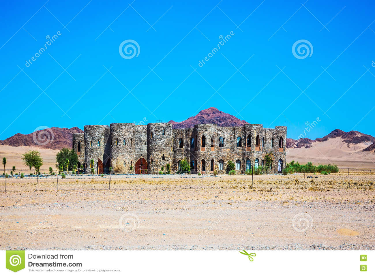 Hotel Around The Namib Naukluft National Park Stock Image