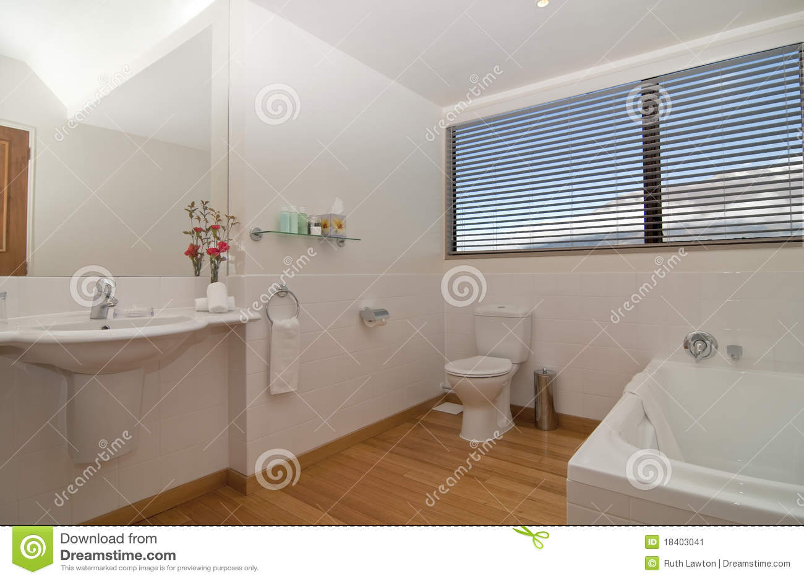 hotel badezimmer stockbild bild 18403041