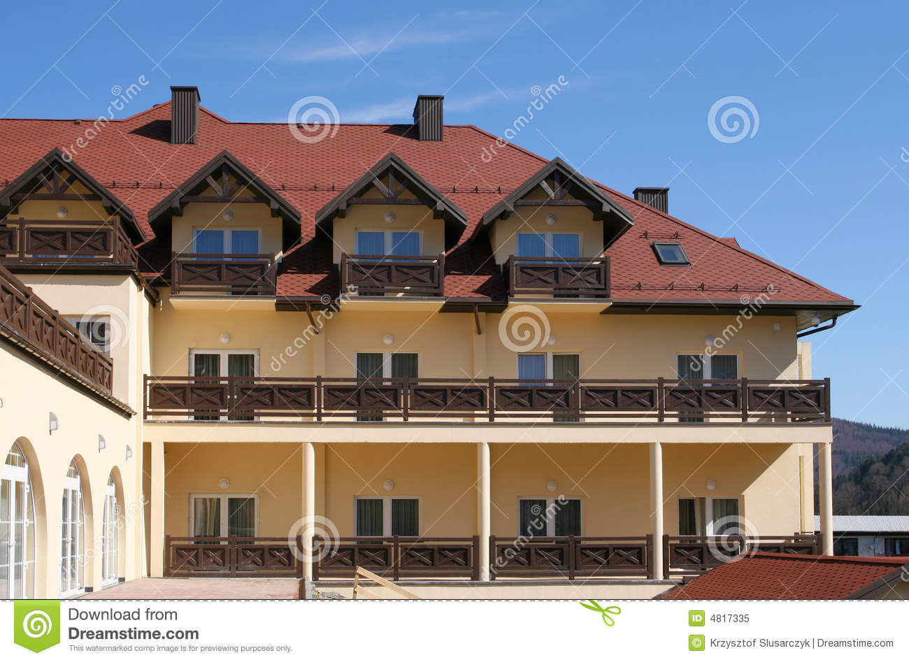 Hotel balconies royalty free stock photo image 4817335 for Hotels with balconies