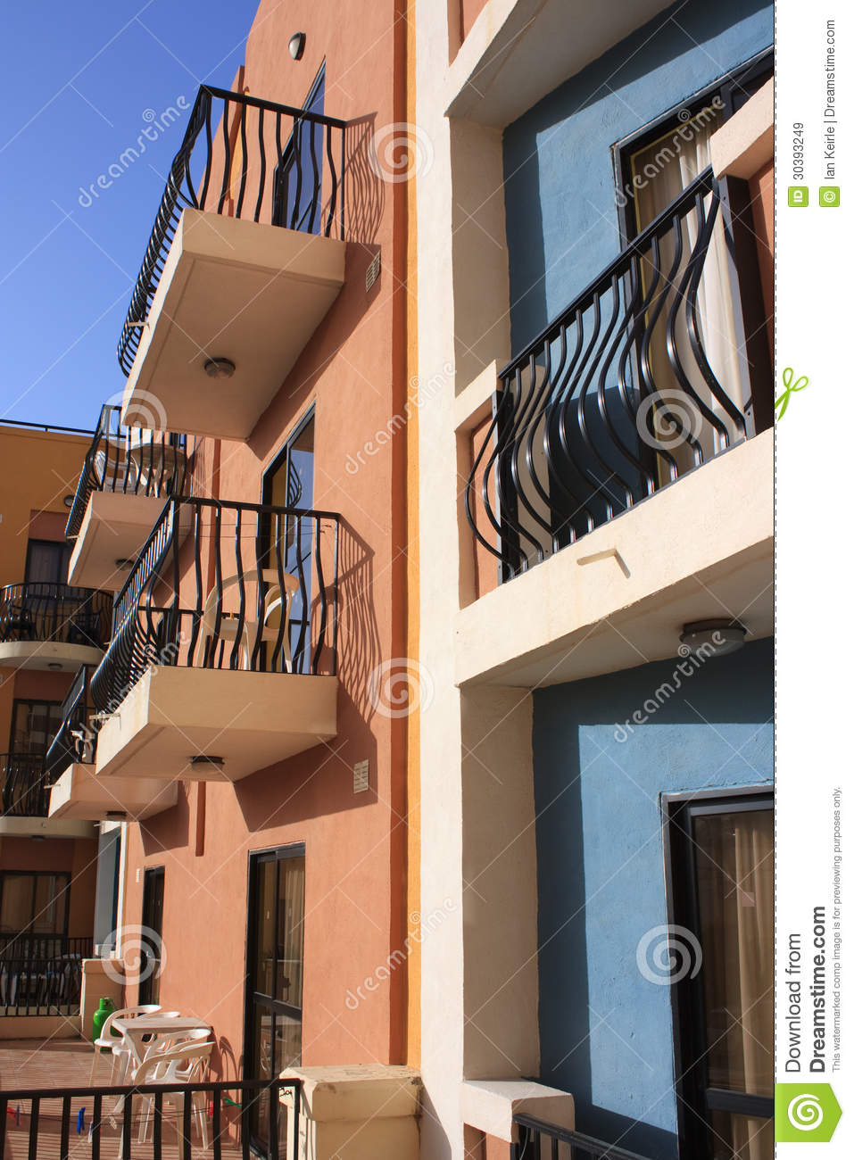 Hotel balconies royalty free stock images image 30393249 for Hotels with balconies