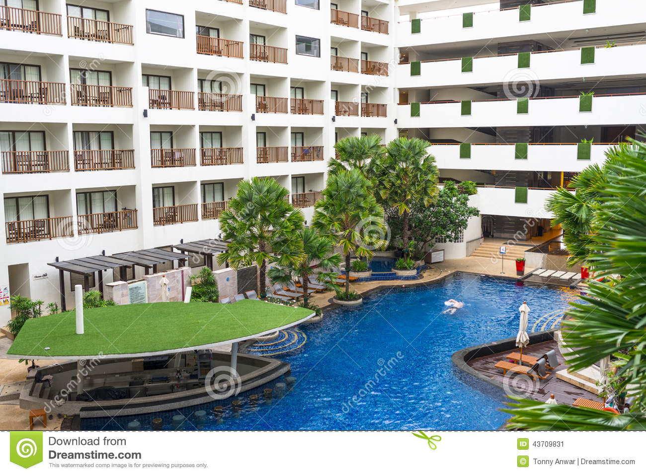Hotel balconies stock image image of accommodation pool - Hotel with swimming pool on balcony ...
