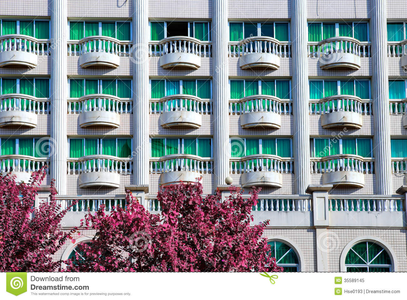 Hotel balcony stock image image of resort business for Hotels with balconies