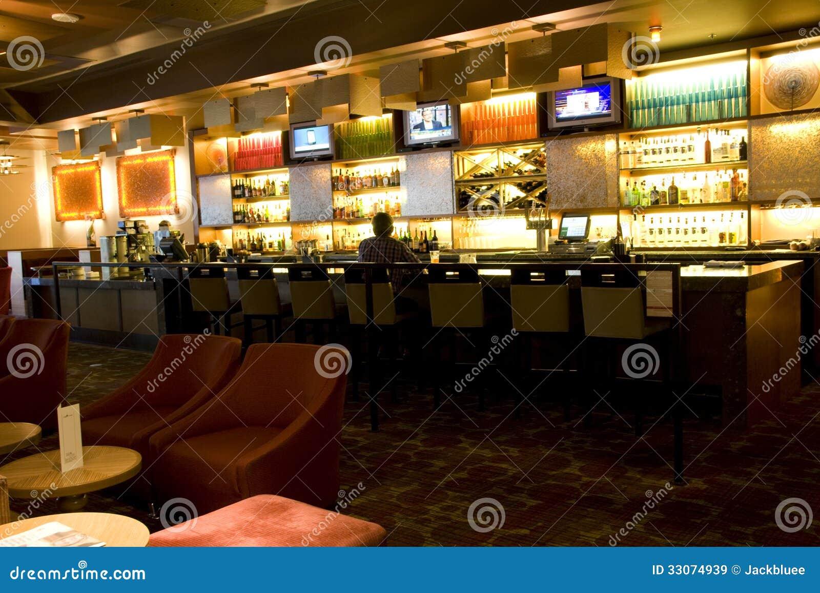 Hotel bar restaurant editorial stock image