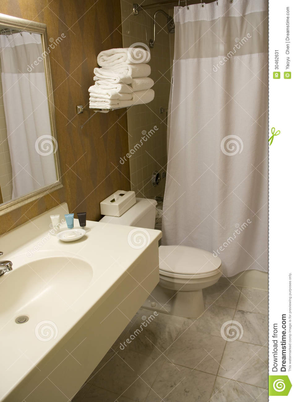 Relaxing Bathroom Colors: Hotel Bathroom Stock Image. Image Of Sparkle, Indoor