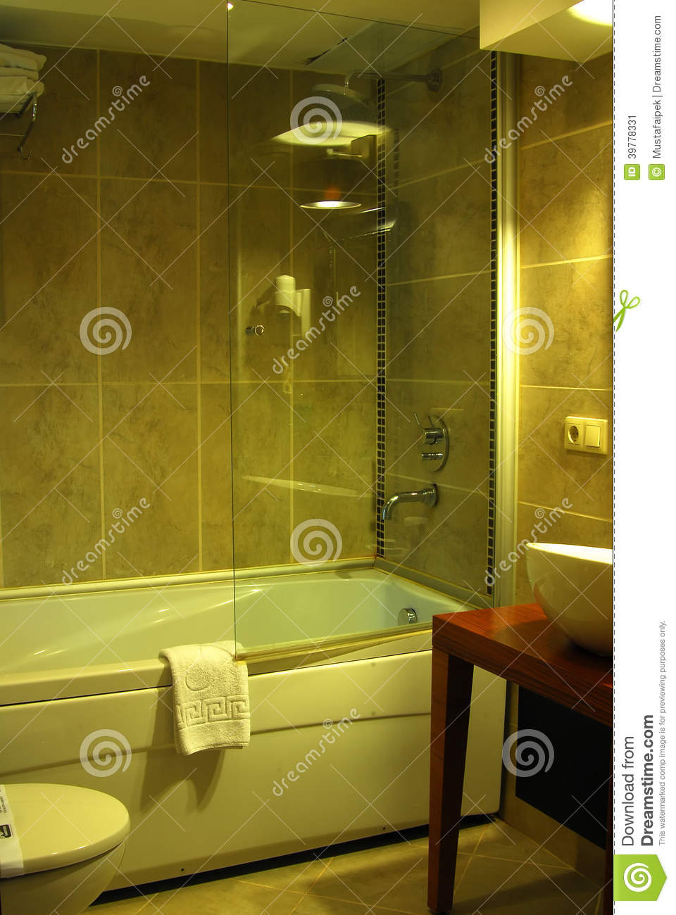 Bathroom interior of brand new luxury resort hotel royalty for Latest bathroom interior