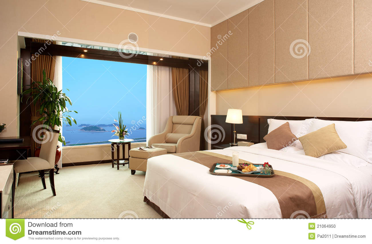Hotel Bed Room Stock Photo Image 21064950