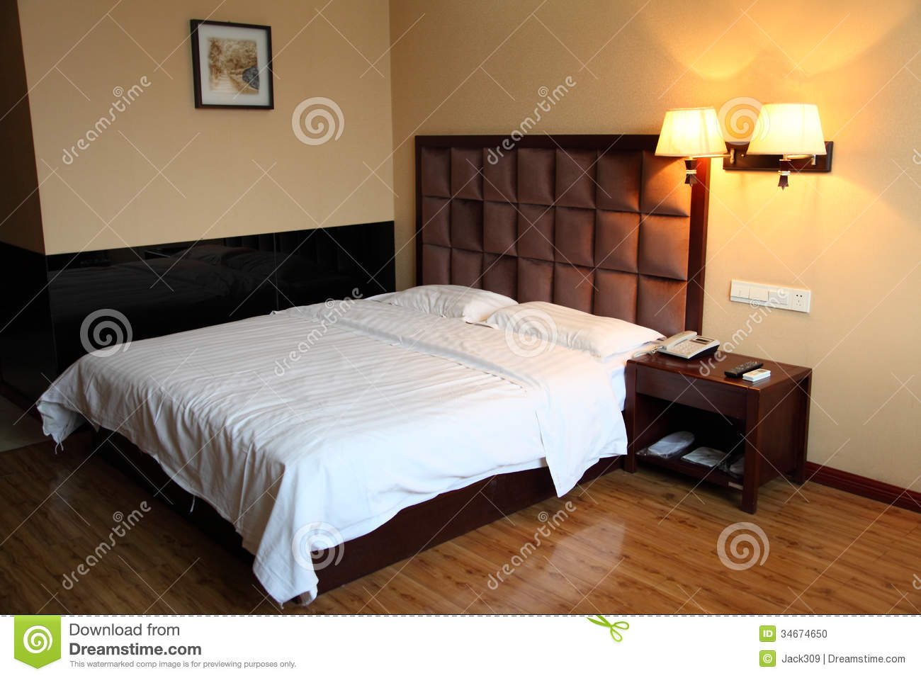 Hotel bed room stock photo image 34674650 - Image bed room ...
