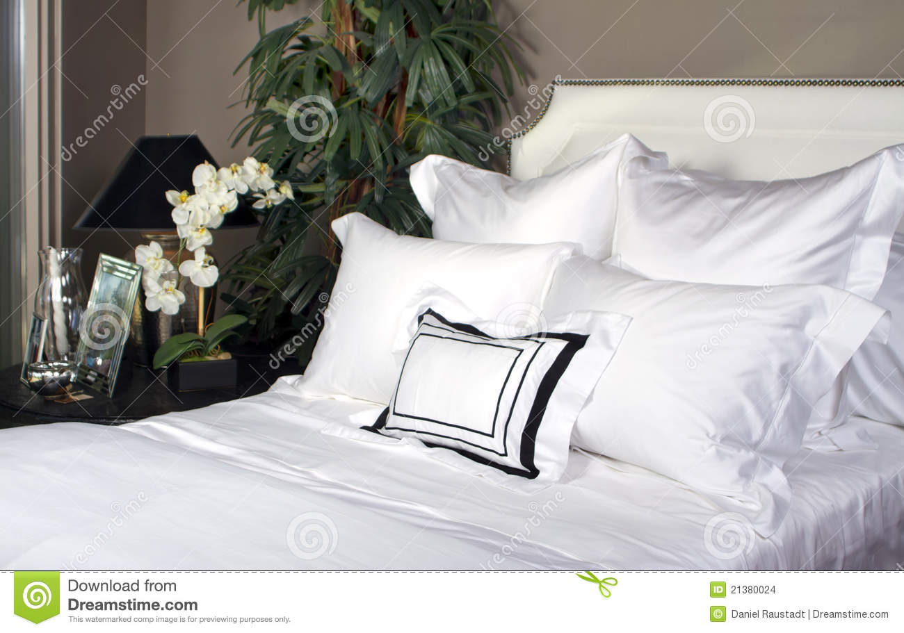 Hotel Bed And White Linen