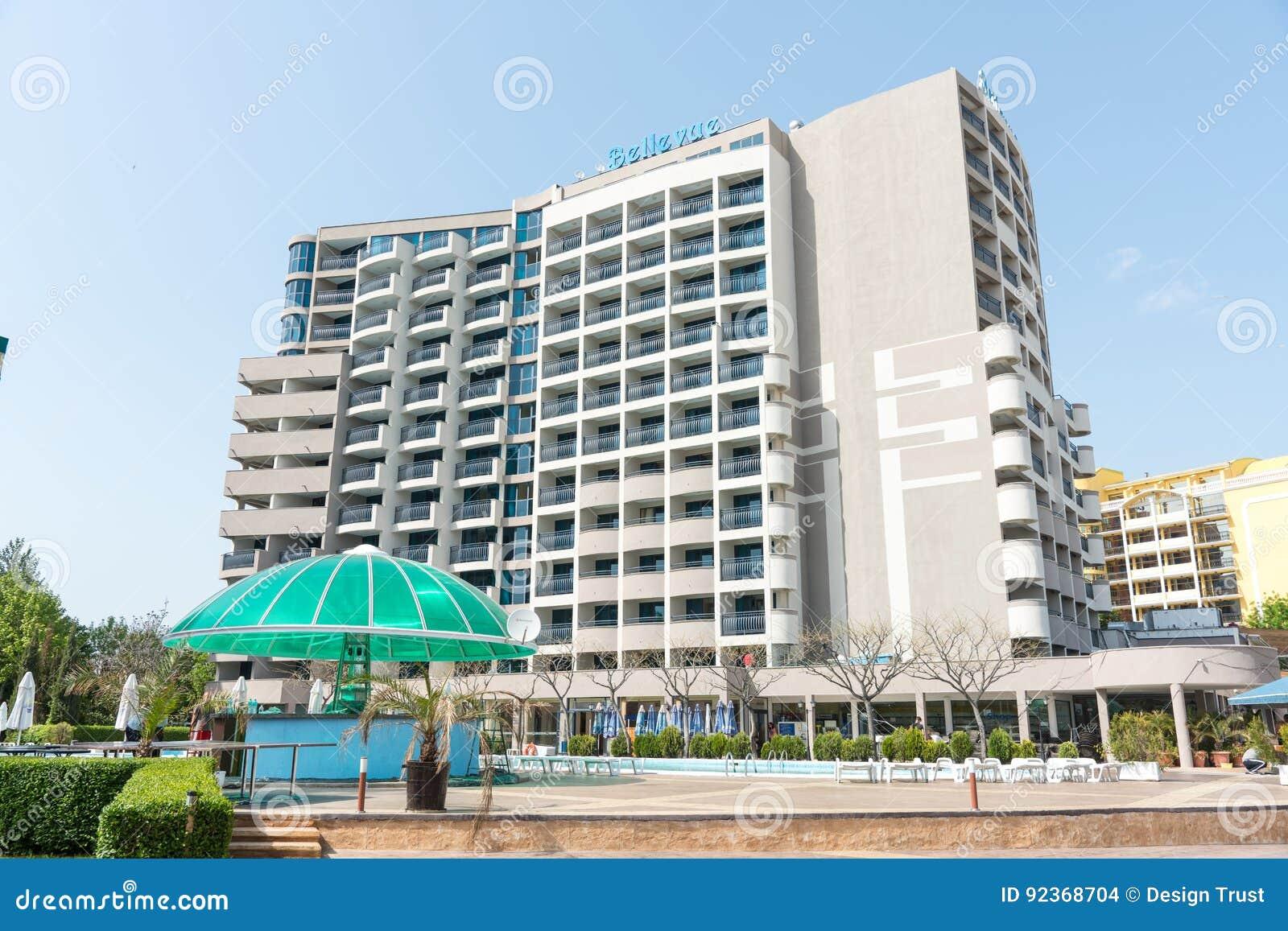 Hotel Bellevue In Sunny Beach In Bulgaria Editorial Stock Image