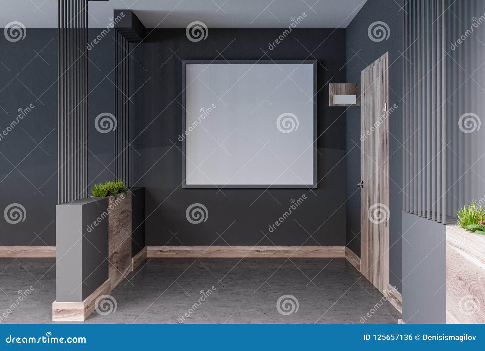 Hotel Biuro Lub Bloku Mieszkaniowego Korytarz Plakat