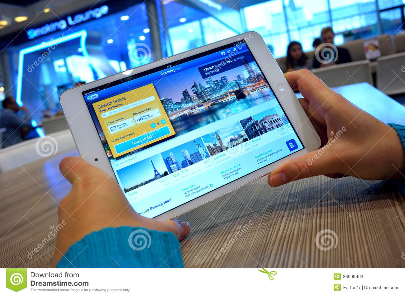 Hotel booking editorial stock photo image 36909403 for Tablet hotel booking