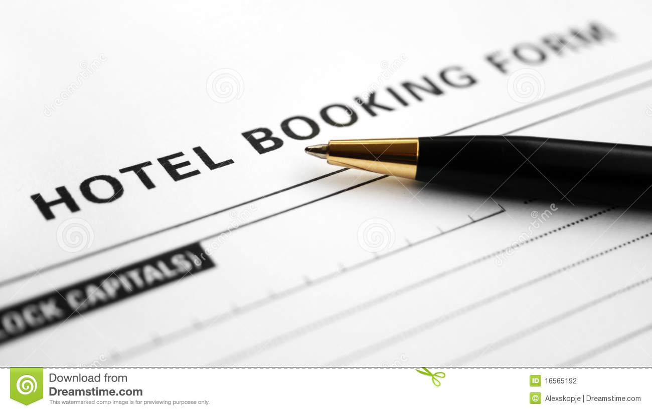 Hotel booking form stock photography image 16565192 for Booking hotel