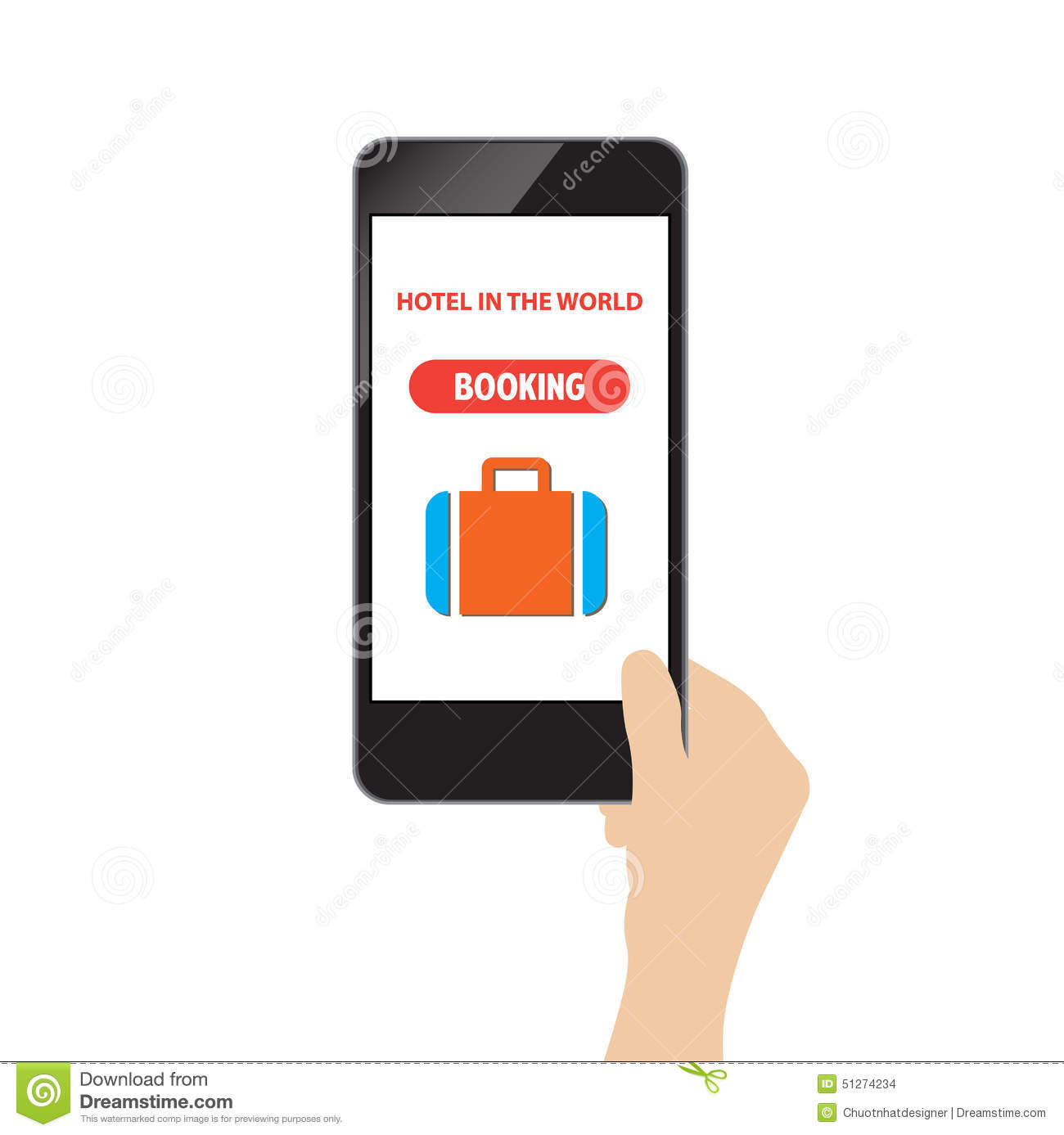 Hotel booking online stock vector image 51274234 for Hotel booking design