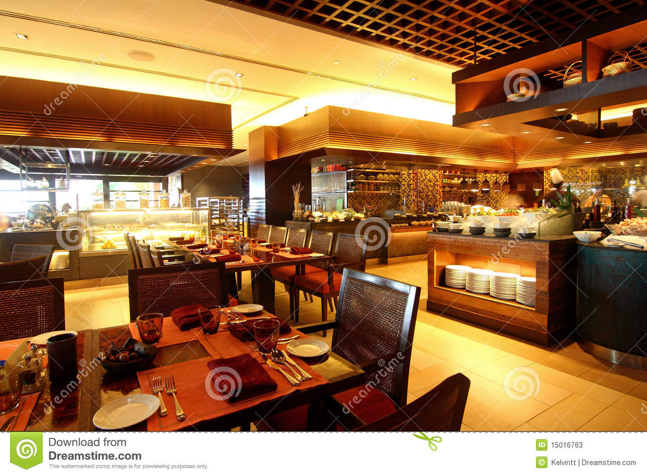 Hotel buffet dining restaurant stock image of