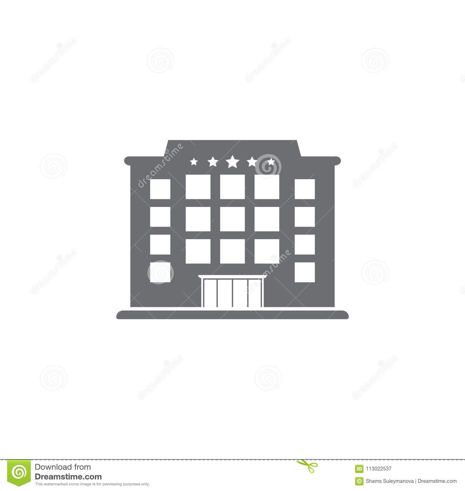Hotel Building Icon. Simple Element Illustration. Hotel Building ...