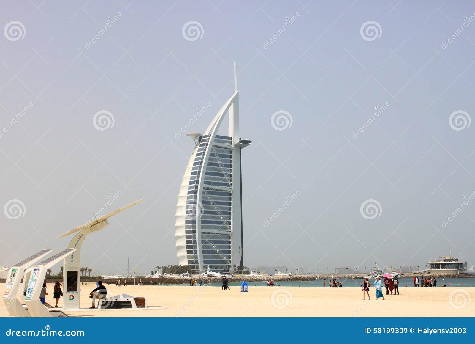 Hotel Burj Al Arab in Sonntag