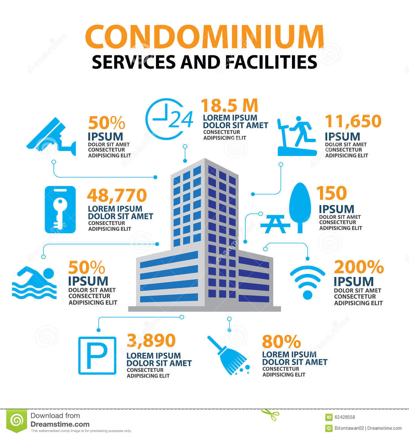 Hotel Condominium And Home Services Facilities Icon