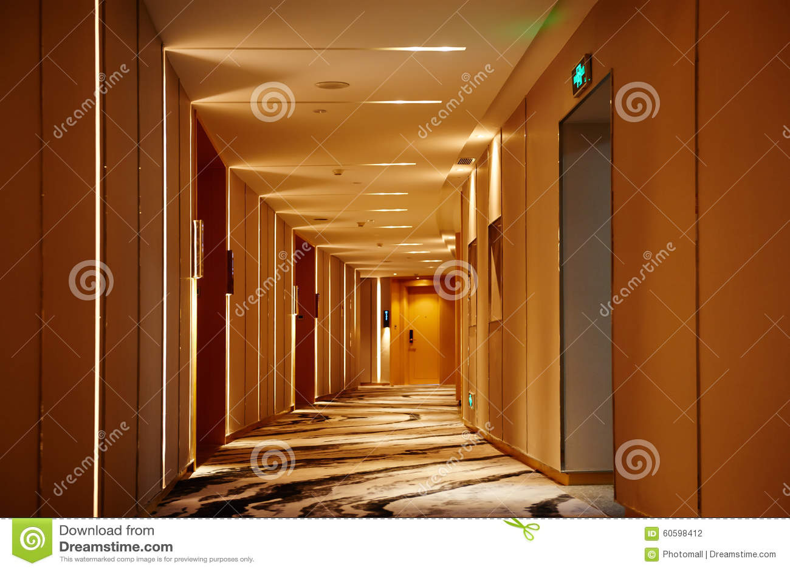 Hotel Corridor Lobby Stock Photo Image 60598412