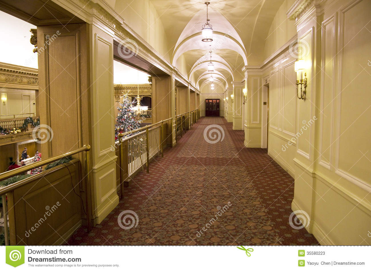 Hotel corridor stock image image of interior designs for Nice hotel design