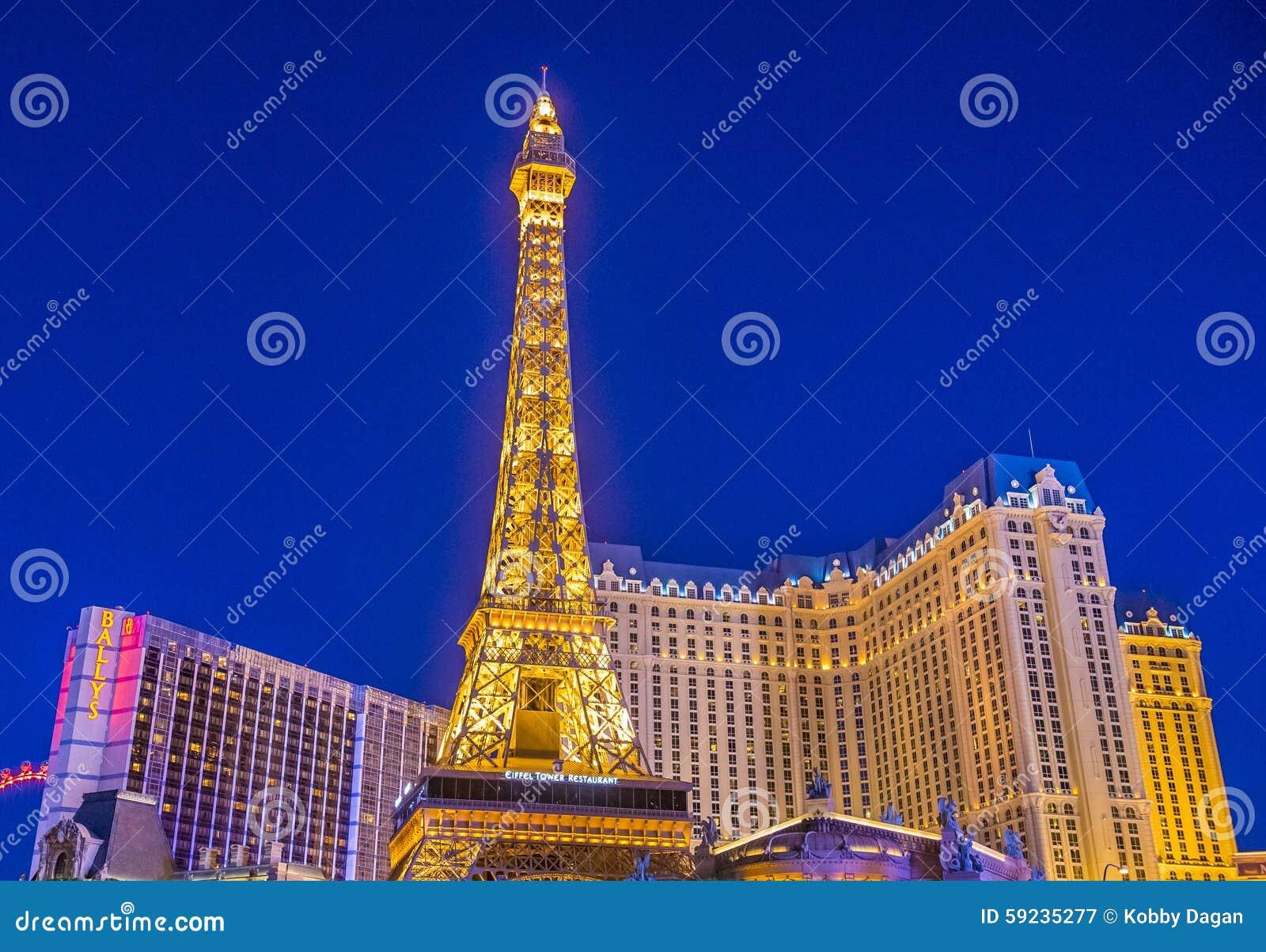 Download Hotel de Las Vegas, París fotografía editorial. Imagen de tarde - 59235277