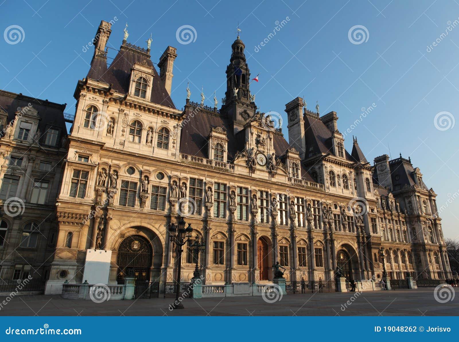 Hotel De Ville Paris Stock Photography Image 19048262