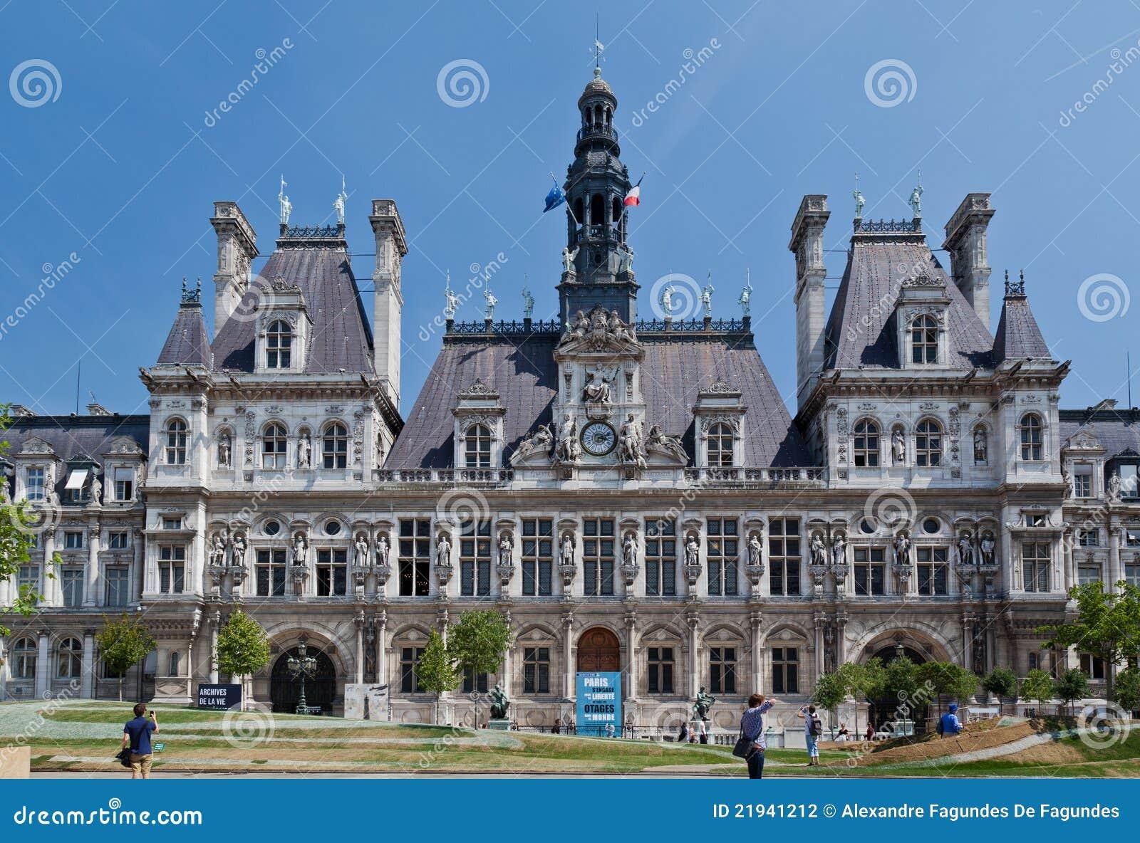 Hotel de ville paris editorial photography image of for Hotel deville paris