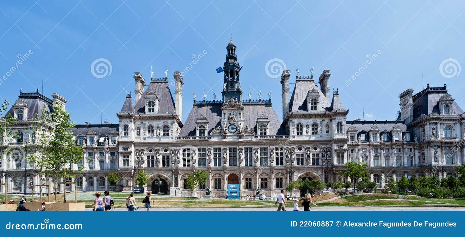Hotel De Ville Paris Editorial Photography Image 22060887