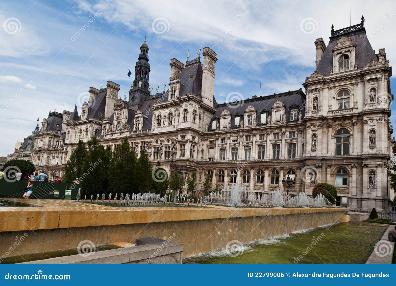 Hotel De Ville Paris Editorial Photo Image 22799006