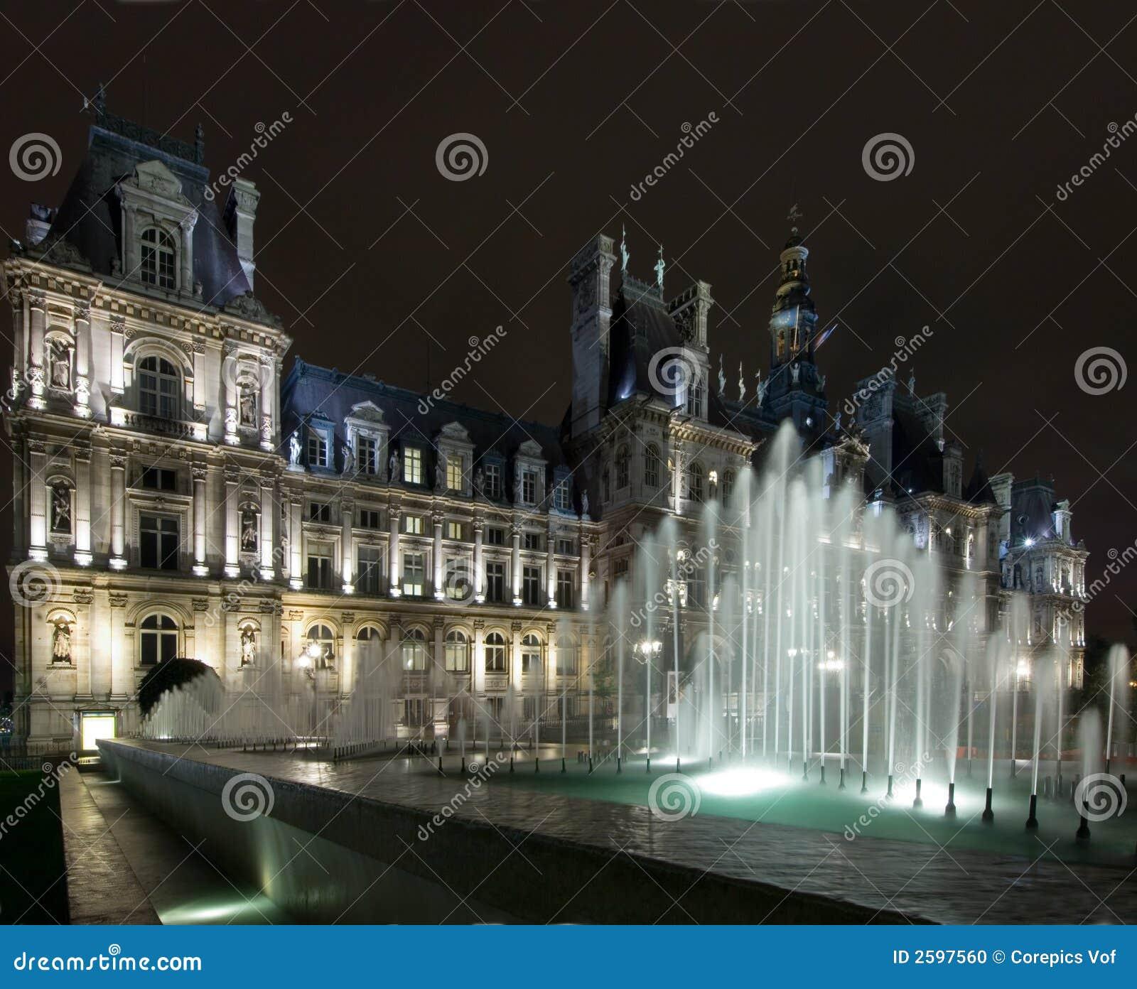 Hotel De Ville Paris Stock Photo Image 2597560