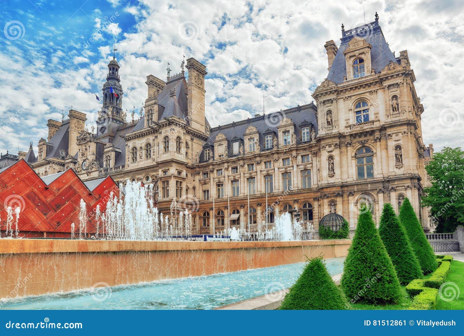 Hotel De Ville In Paris Is The Building Housing City S Local Ad