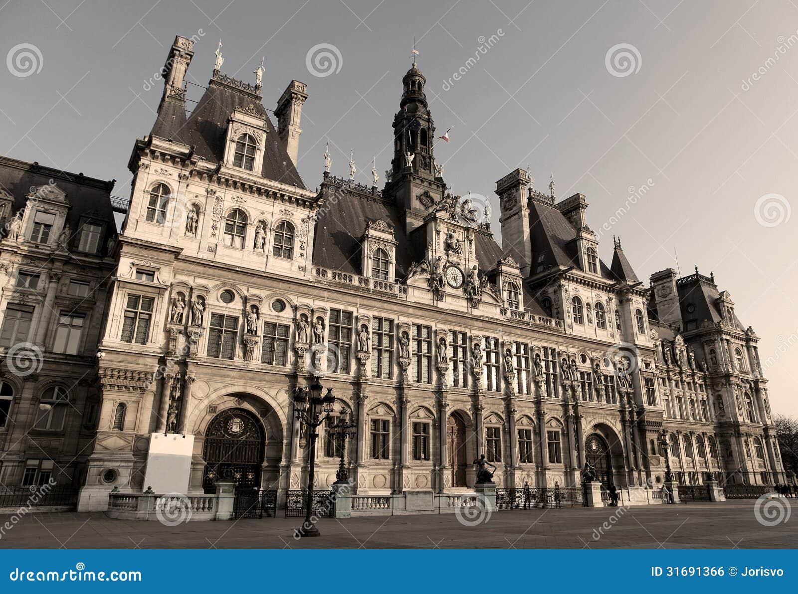 Hotel De Ville Paris Royalty Free Stock Image Image