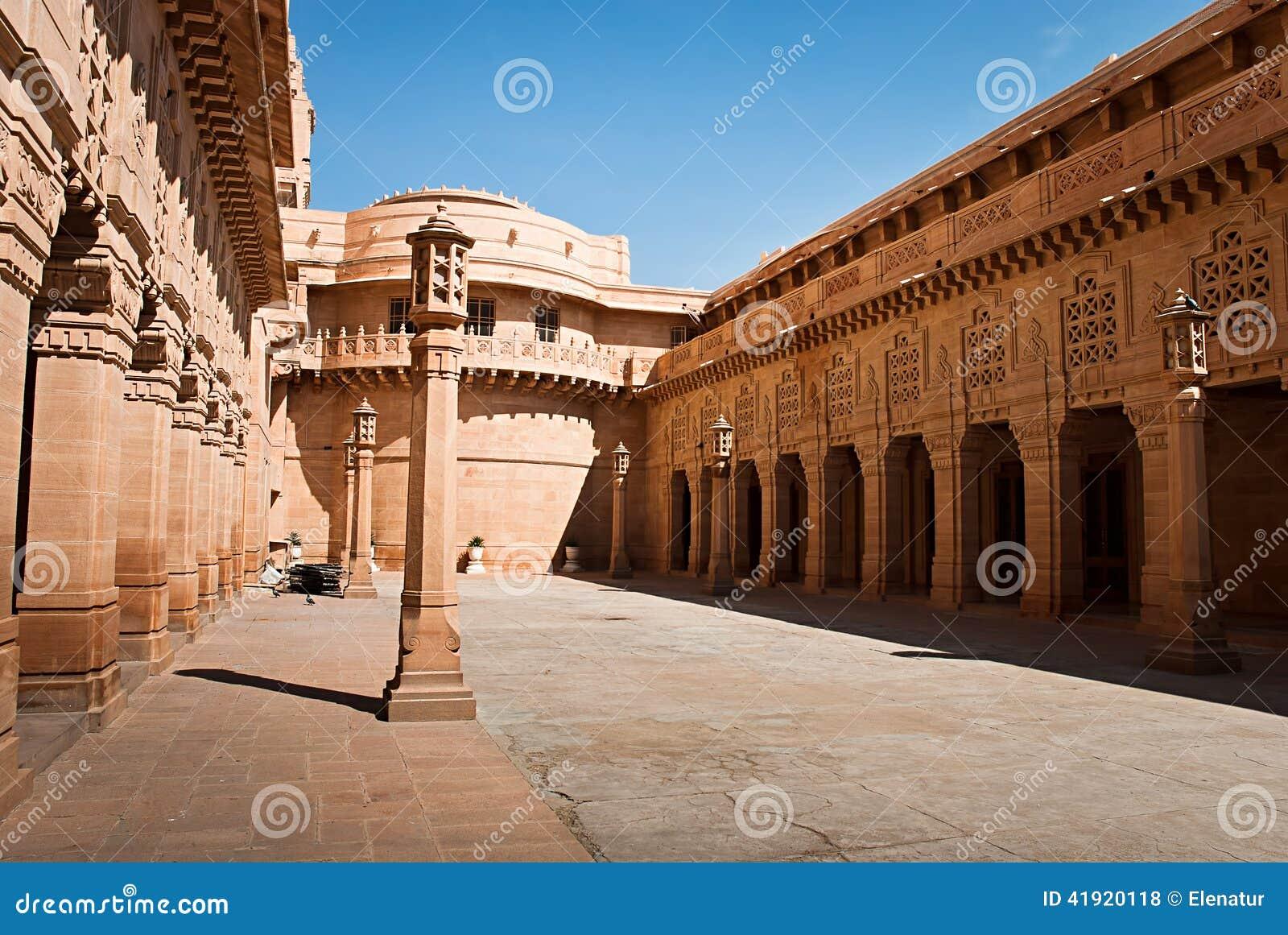 Hotel del palacio de Umaid Bhawan en Jodhpur, la India