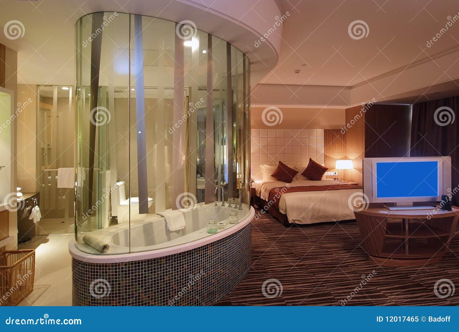 Hotel Della Camera Da Letto Immagine Stock - Immagine di lampada ...
