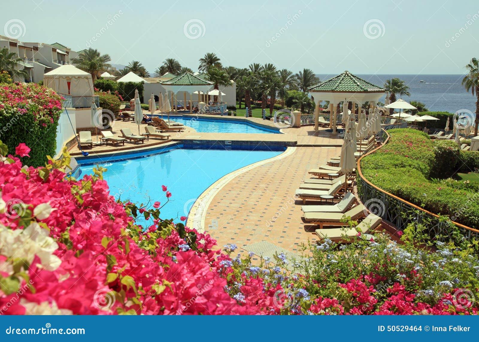 Hotel Di Località Di Soggiorno Con Lo Stagno Sulla Spiaggia In Sharm ...