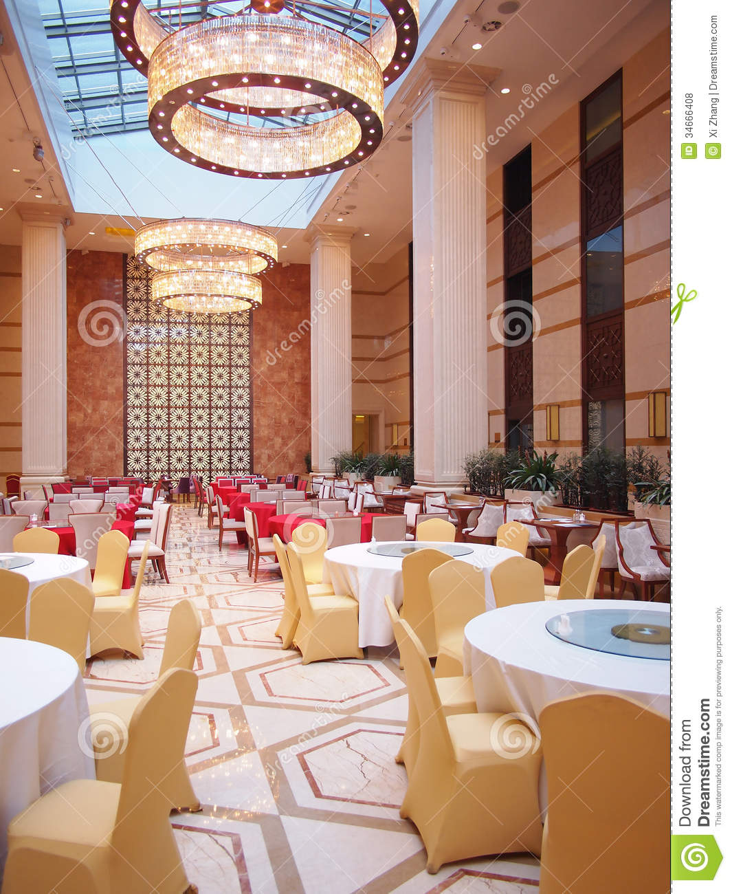 Dining Hall: Hotel Dining Hall Stock Photo. Image Of Palm, Plants