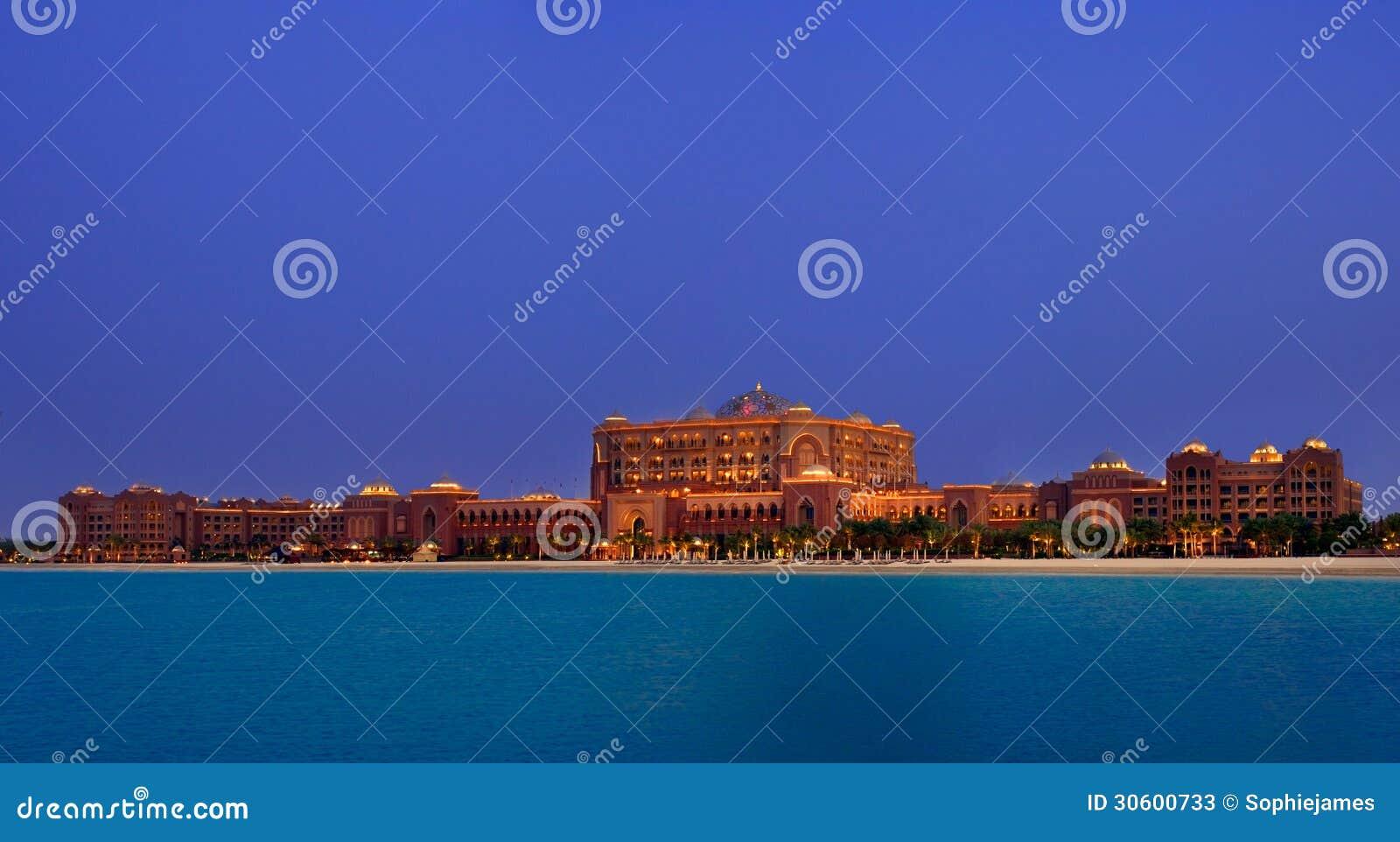 Hotel do palácio dos emirados, o hotel o mais exclusivo de Abu Dhabi