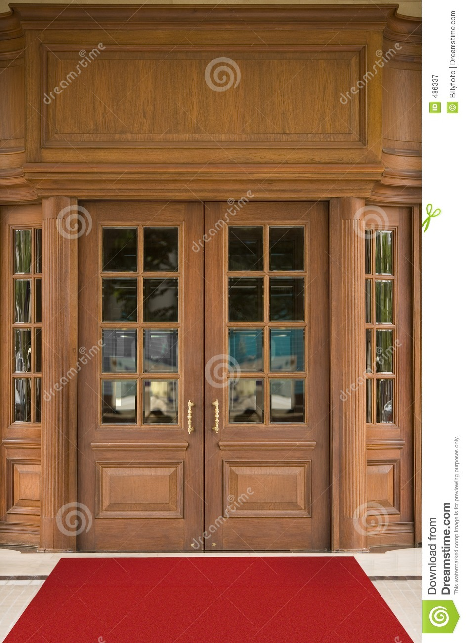 Hotel Entrance Doors : Hotel door royalty free stock photography image